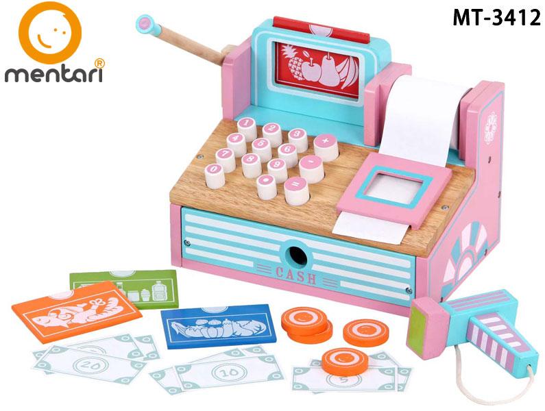木質玩具 家家酒 角色扮演 兒童安全無毒玩具 Mentari 小老闆益智收銀機