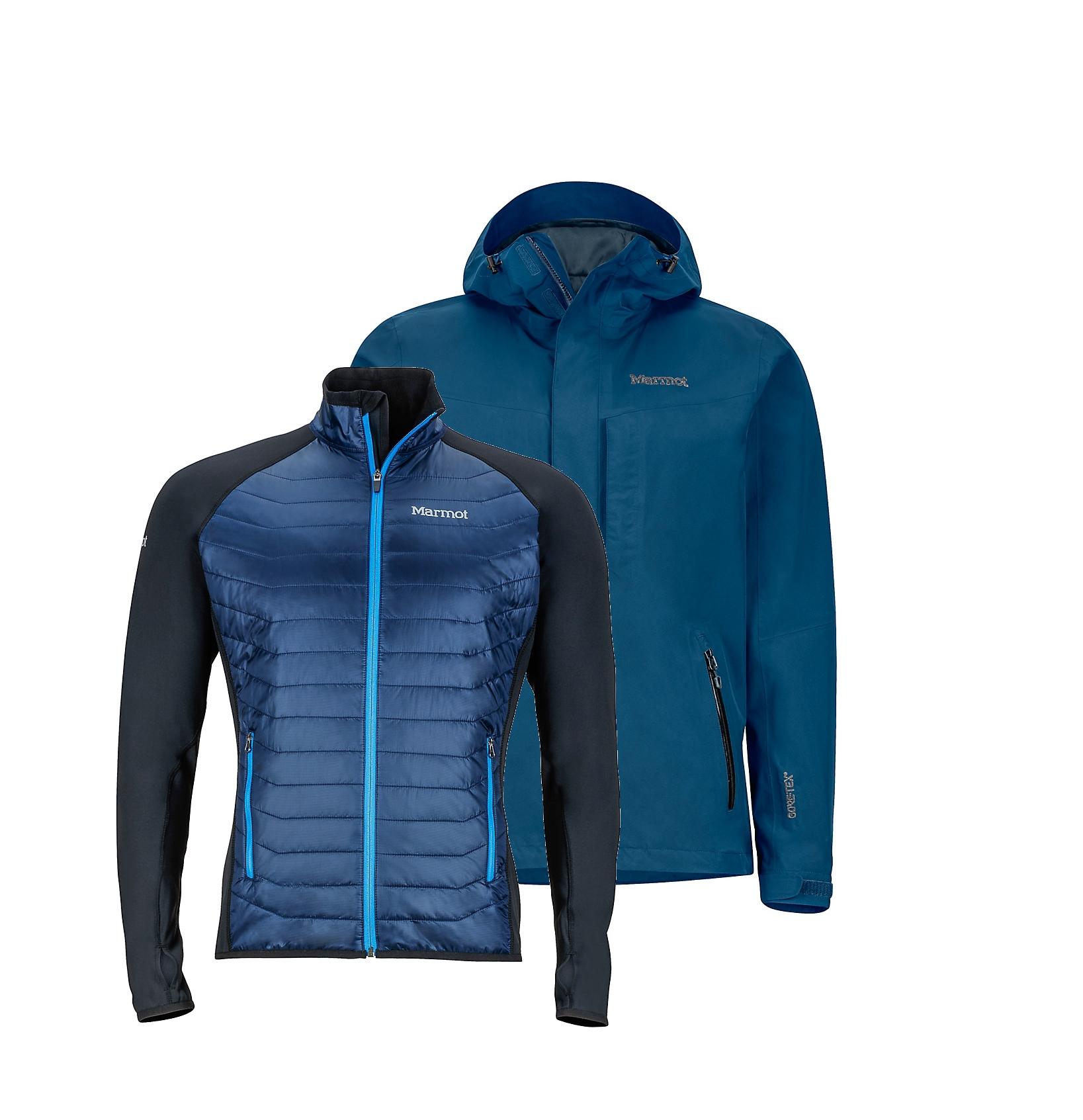├登山樂┤美國Marmot Wayfarer 男款GORE-TEX防水外套/風雨衣 兩件式 保暖化纖 深藍#30410-0200