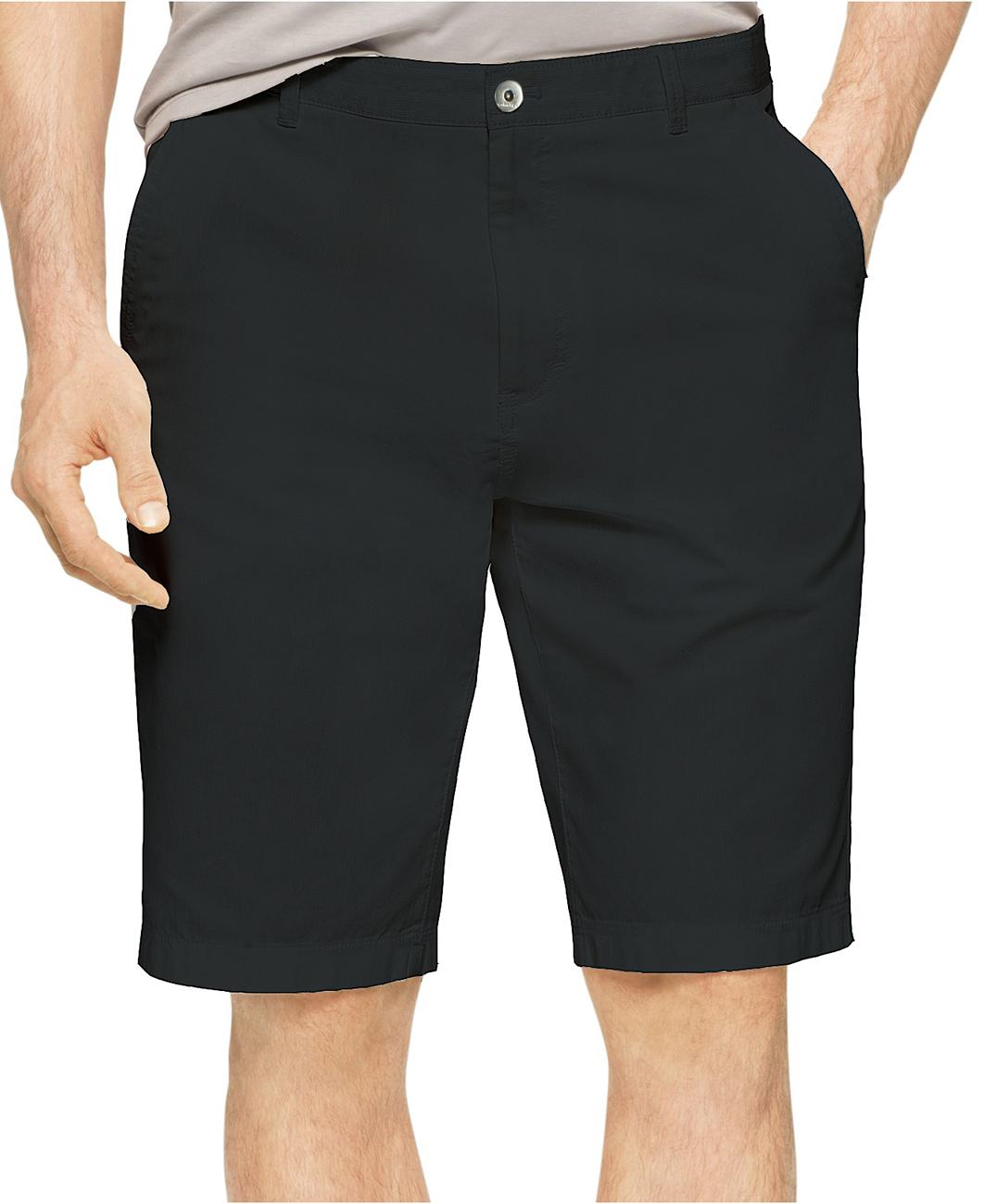 美國百分百【全新真品】Calvin Klein 短褲 CK 休閒褲 百慕達褲 五分褲 燈芯絨 9吋 黑色 男褲 38 40腰  F288
