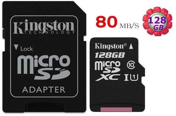 KINGSTON 128GB 128G 金士頓【80MB/s】microSDXC microSD SDXC  micro SD UHS-I UHS U1 TF C10 Class10 手機記憶卡 記憶卡