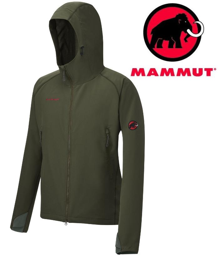 Mammut 長毛象軟殼外套/薄軟殼衣/登山風衣 SOFtech CLIMB Light Hooded 男款1010-23000 7249紅樹林綠