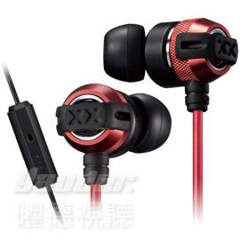 【曜德★送收納盒】JVC HA-FX33XM 紅 入耳式耳機 重低音系列 線控麥克風★免運★
