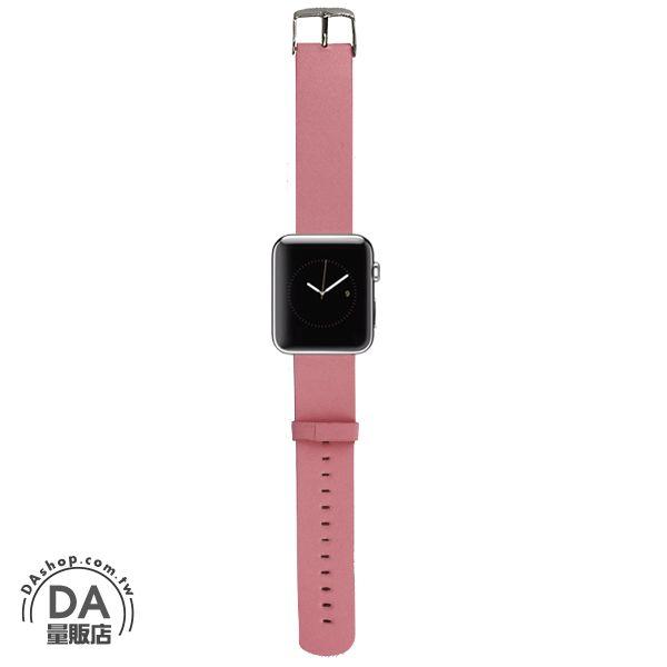 《DA量販店》Apple watch 皮質 錶帶 42mm 粉紅 附工具(80-2059)