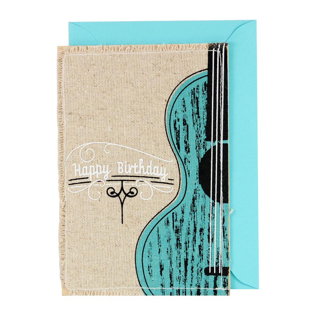 剪刀石頭紙【Signature經典手工系列 生日卡】背著吉他去流浪