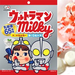 *即期促銷價*日本不二家 優格味 Milky 牛奶糖 鹹蛋超人協作包裝 [JP443]