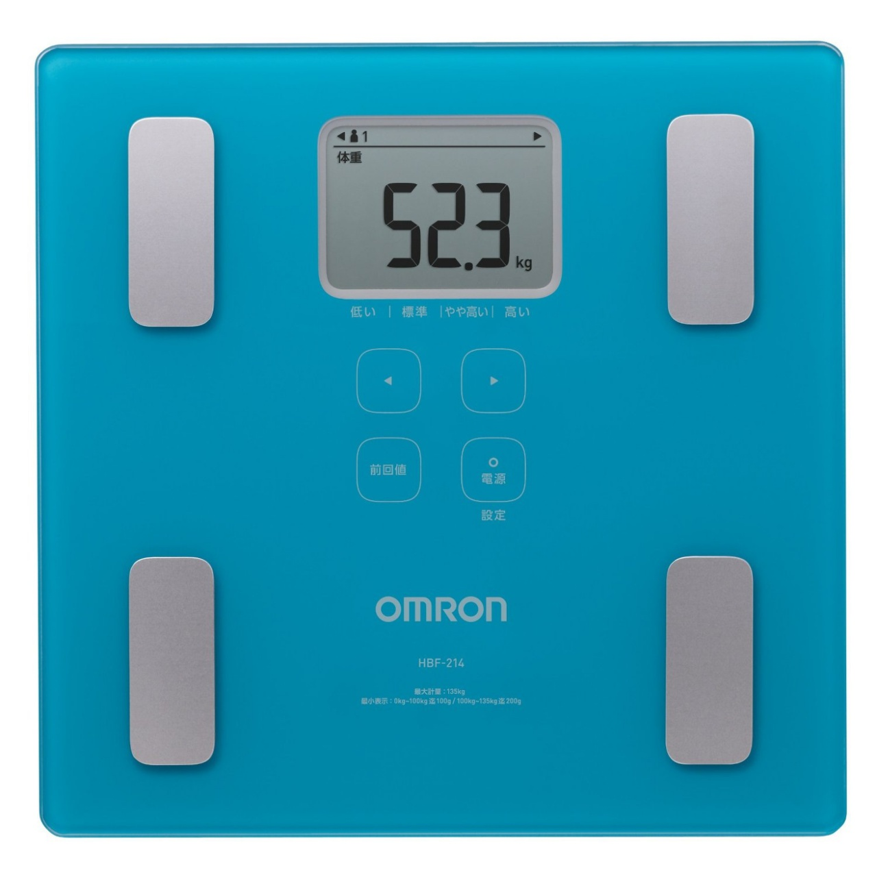 OMRON歐姆龍體脂肪計HBF-214(藍色)
