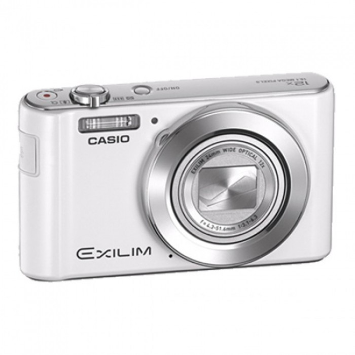 【平價美肌相機】(白色)CASIO EX-ZS50 1600萬高畫素 增強美肌模式 12倍大光學 24MM超廣角 公司貨含稅