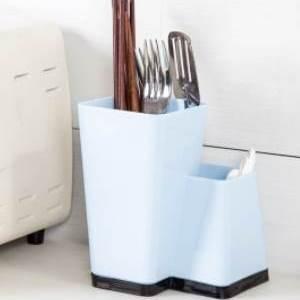 美麗大街【BF075E21】廚房用品塑料筷子筒 家用瀝水餐具收納盒創意多功能筷子籠