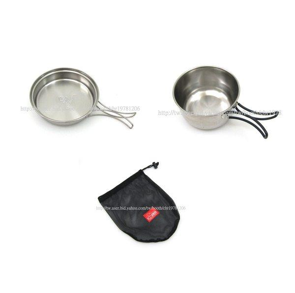 【大山野營】文樑 ST-2011 600cc 0.6L 超輕 不鏽鋼鍋 不鏽鋼碗 煎盤 單人鍋 個人餐具 登山 露營 炊具