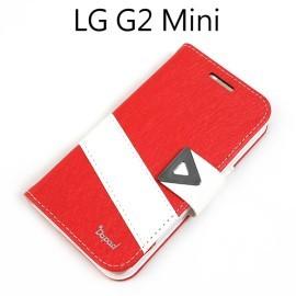 【Dapad】星光紋雙色支架皮套 [紅+白] LG D620k G2 mini