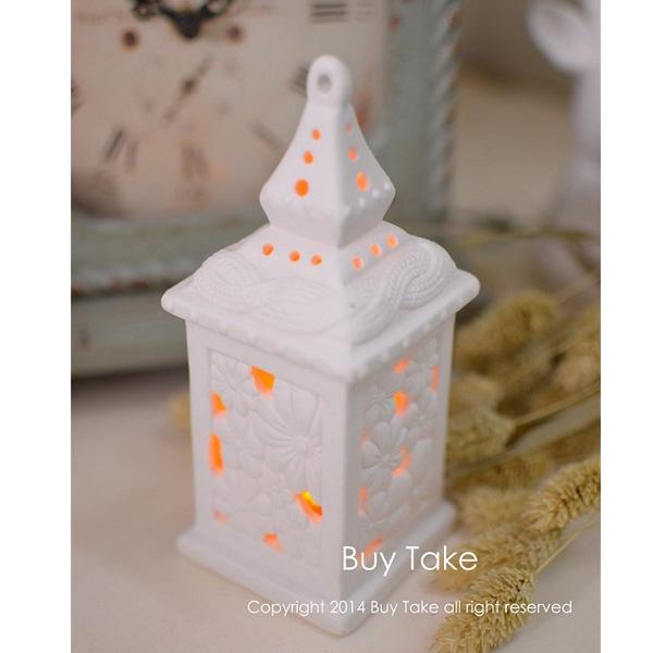 白木屋夜燈 白色陶瓷擺飾 房子 造型設計 瓷器 天使 歐式 禮品 禮物 夜燈