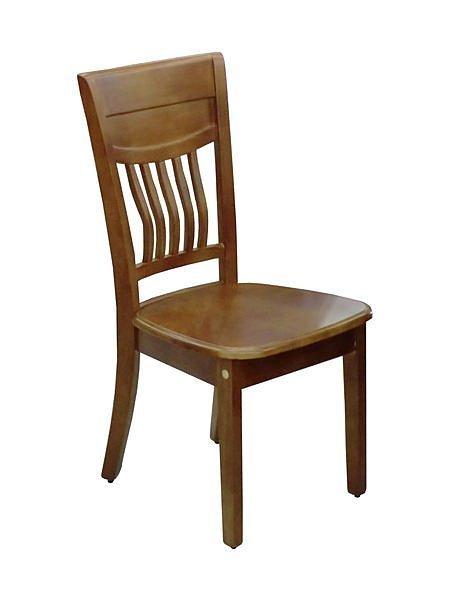 【尚品傢俱】247-02 柚木色半實木餐椅~