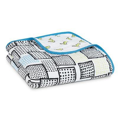 【美國 aden+anais】純棉嬰兒棉紗被毯(dream blanket)閃電聰明小子款 # SKU 6046