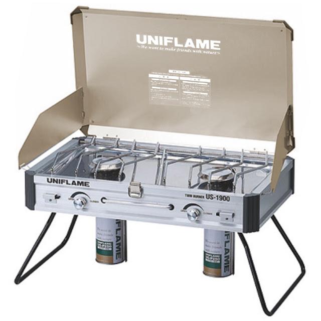 UNIFLAME金色版 US-1900 行動廚房瓦斯爐 不鏽鋼瓦斯雙口爐 610329