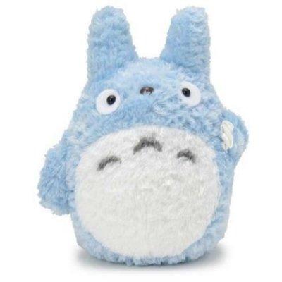 【真愛日本】14061800012 綿柔娃S-中藍龍貓拿包袱 龍貓 TOTORO 豆豆龍 娃娃 玩偶