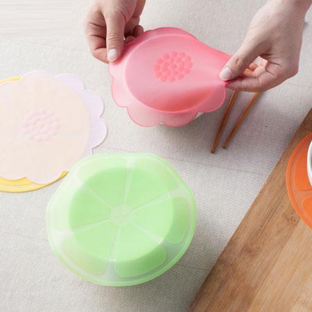 水果花朵食品級矽膠保鮮蓋 透明密封蓋 矽膠保鮮膜 保鮮蓋 密封蓋【B062387】