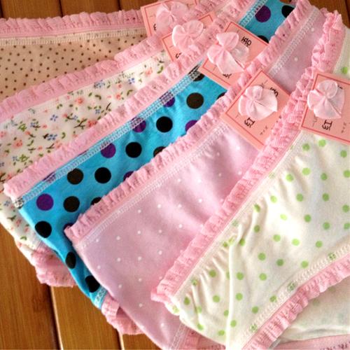 日式 蝴蝶結蕾絲印花內褲 不挑色