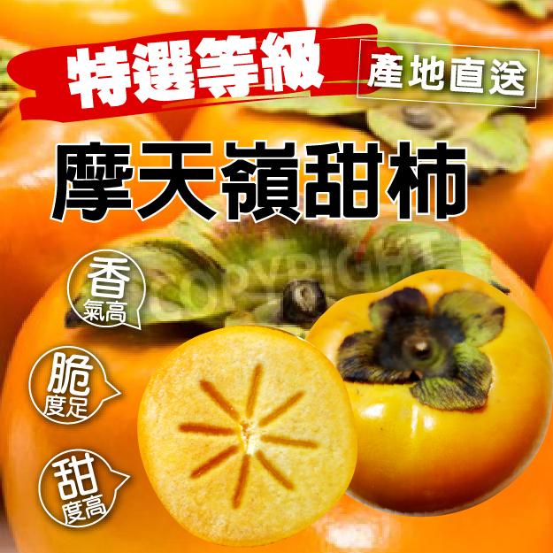 {SWEET FRUIT} 摩天嶺甜柿 7A 特選 1粒 禮盒 堅持最高品質