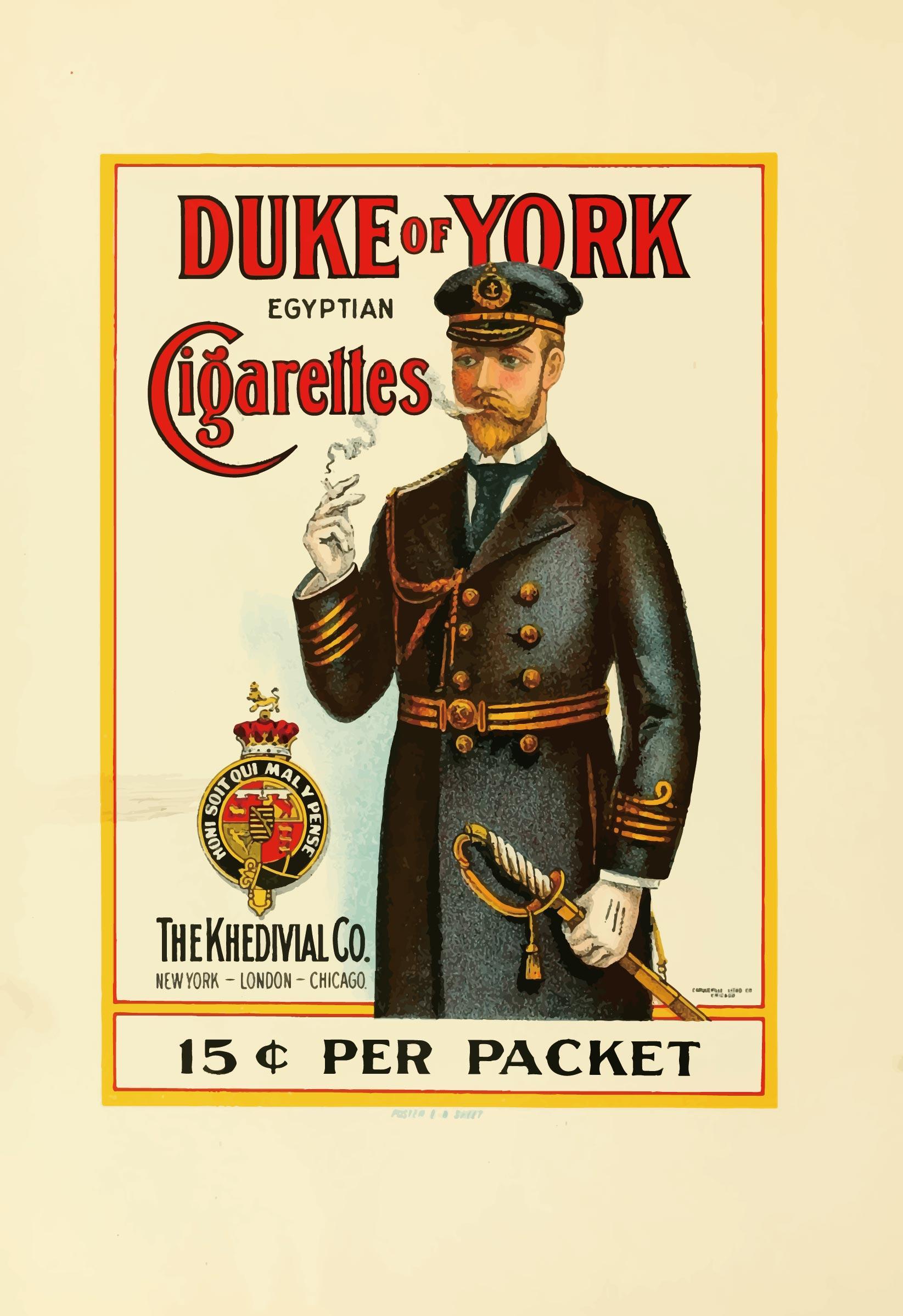 Duke of York 雪茄廣告 (A4海報)