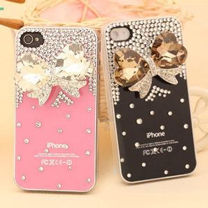 【MIYA米亞】iPhone 4s/4 Hello Kitty 凱蒂貓 水鑽珍珠殼(捷克鑽) (手機美容 水晶 貼鑽 手機殼 保護殼)