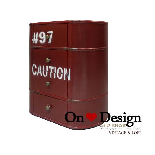 On ♥ Design ❀ LOFT 工業家具 RH風格 汽油桶 收納櫃 B款 紅色