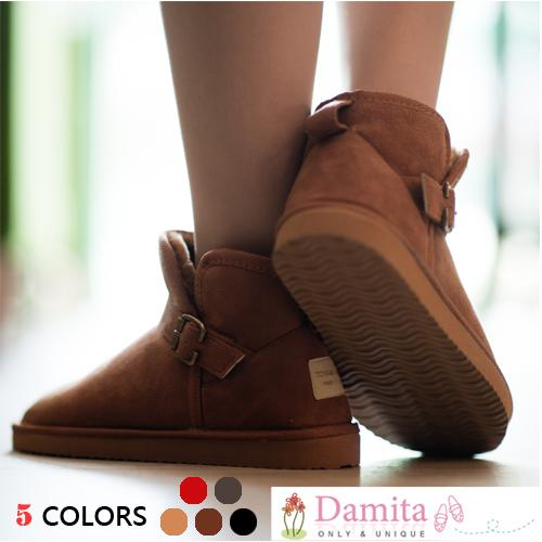 雪靴 - 定番超人氣款側釦環厚底超短雪靴 ( 5色 ) 現貨