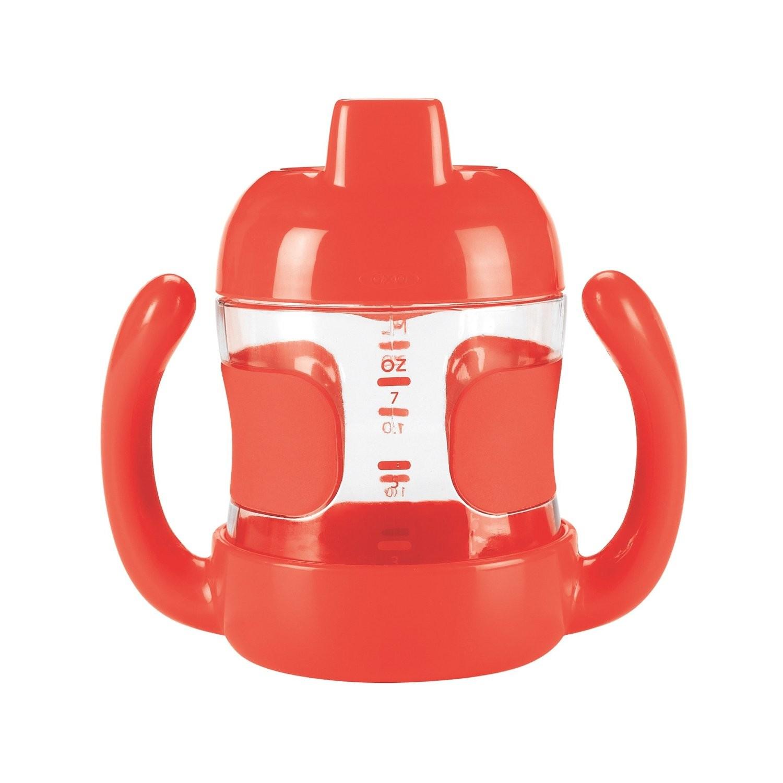 美國 OXO O 兒童水杯 幼童喝水訓練杯 鴨嘴杯 200ml 橘色 *夏日微風*