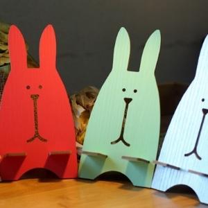 美麗大街【BF222E27E1E819】卡通創意可愛兔子造型手機架手機座