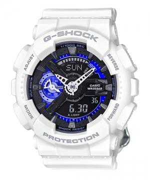 國外代購 CASIO G-SHOCK 縮小系列 GMA-S110CW-7A3 白黑紫 防水 手錶 腕錶 電子錶 男女錶