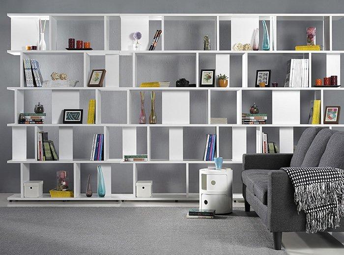 【尚品家具】 JF-329-1 海爾斯3.3X7尺白色造型書櫃