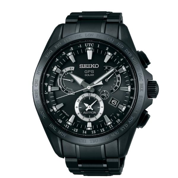 Seiko Astron 8X53-0AB0SD(SSE049J1)時尚鈦黑太陽能GPS校時腕錶/黑面44.6mm