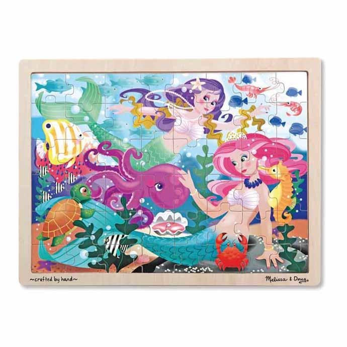 【華森葳兒童教玩具】拼圖教具系列-木製拼圖-小美人魚 N7-2911