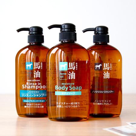 日本熊野油脂 馬油沐浴乳/洗髮精/潤絲洗髮精 600mL 無矽靈 柔順 修護 受損髮 弱酸性 日本製【N201295】