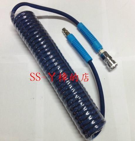 PU外包紗伸縮管附快速接頭/風管/ 空壓管/ 5*9mm*9米-爆破壓力900PSI(含稅價)