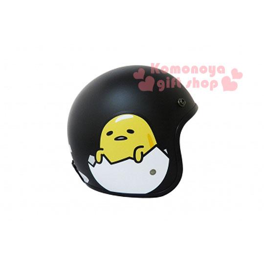 〔小禮堂〕蛋黃哥 復古式安全帽《黑.蛋殼裡》內附前遮片