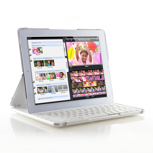 iPad 2/3/4 專用折疊式藍牙鍵盤/筆電盒