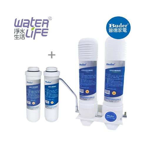 【淨水生活】《普德Buder》【公司貨】FHE-1201超濾淨淨水器-廚上型二道式淨水器 ~ 贈FHE1201 送 5M、CTO 濾心各一支