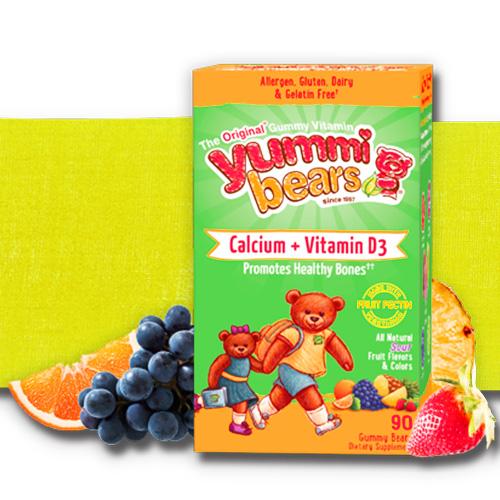 有機維他命軟糖 (鈣+維他命D) 小朋友發育 Yummi Bears  Calcium Vitamin D3 90粒 美國原裝 《ibeauty愛美麗》