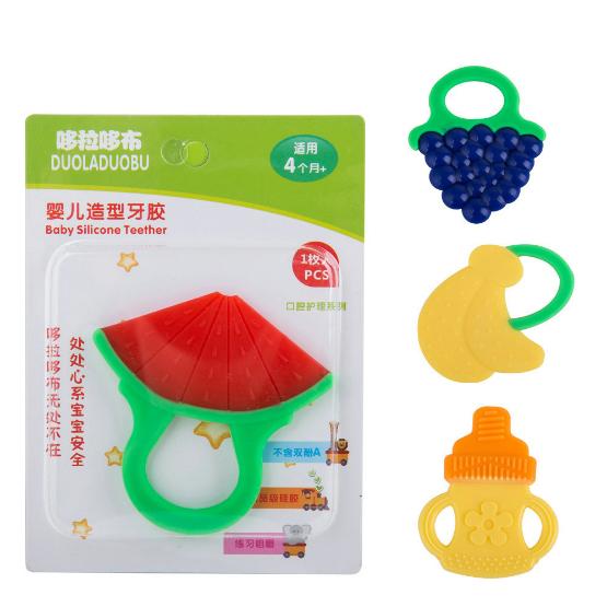 嬰兒全矽膠水果牙膠/可愛造型牙膠/固齒器/嬰兒磨牙器39元【省錢博士】