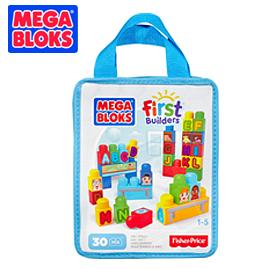 【悅兒樂婦幼用品舘】MEGA BLOKS 美高30片積木袋-字母積木