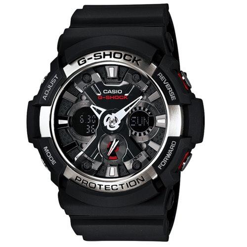 CASIO G-SHOCK/超震憾金屬機械錶面運動錶/GA-200-1ADR