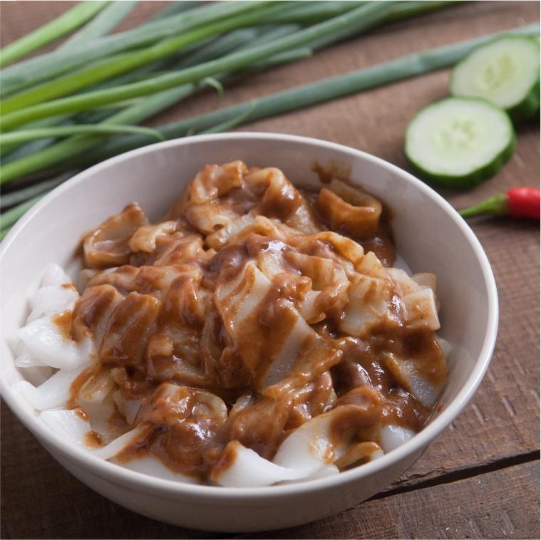 國宴指定粄條 | 雙醬新風味 | 辣味炸醬 | 花生麻醬 | 栗園米食 | 客家風味粄條