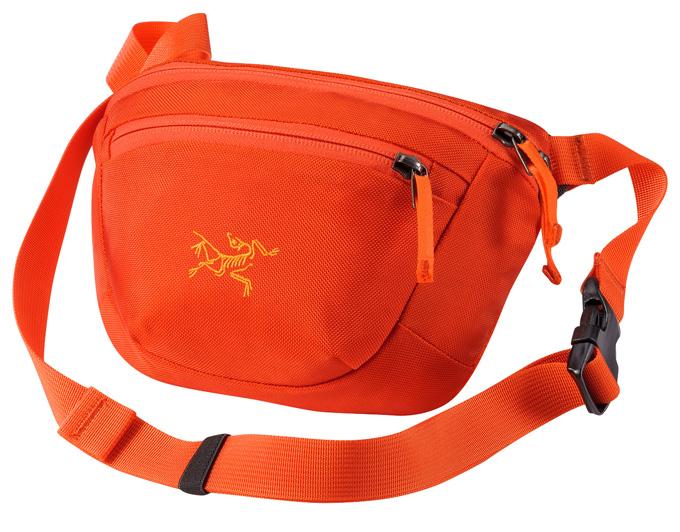 【鄉野情戶外專業】 ARCTERYX 始祖鳥 |加拿大| MAKA 1 腰包/隨身包 旅行包 護照包 側背包-鳳凰橘/17171 【容量2L】