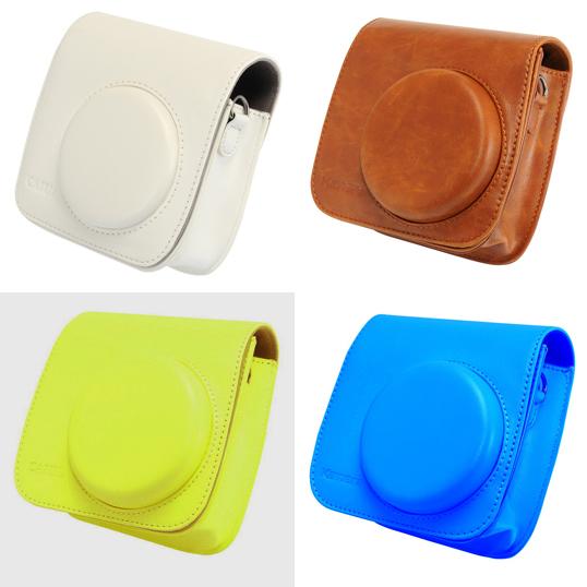 【拍立得配件】Fujifilm instax Mini70 皮質相機包 加蓋 白/黃/藍/棕(咖啡) 四色 富士 Kamera 相機殼