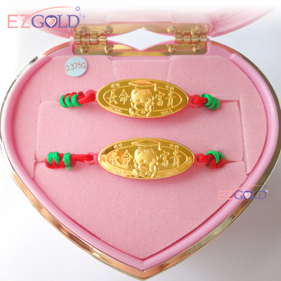 EZGOLD ♥博士天使♥ 彌月金飾音樂禮盒 (0.10錢)