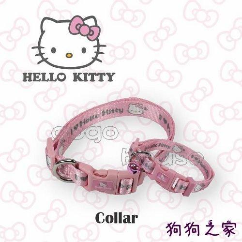 ☆狗狗之家☆日本三麗鷗授權 Hello Kitty 凱蒂貓 項圈 S尺寸 大頭款