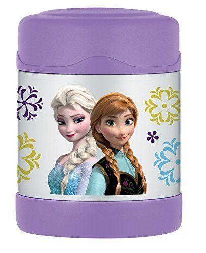 【THERMOS 膳魔師】 不鏽鋼真空保溫食物罐 (紫色冰雪奇緣款) 290ml