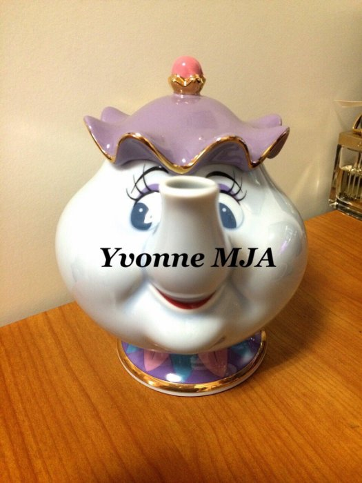 *Yvonne MJA日本代購*東京迪士尼樂園限定正品日本製美女與野獸茶壺媽媽茶壺