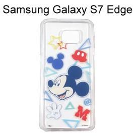 迪士尼透明軟殼 [形狀] 米奇 Samsung G935FD Galaxy S7 Edge【Disney正版授權】