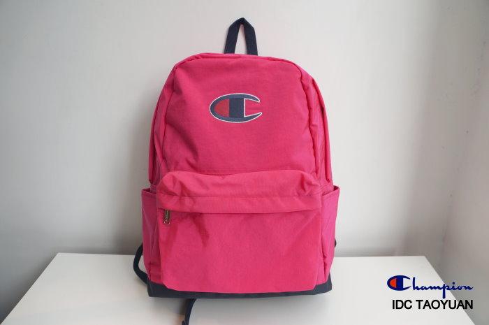 ►法西歐_桃園◄ Champion Logo Backpack 日版 尼龍 電繡 Logo 後背包 深藍 藍綠 桃紅 共三色 桃紅